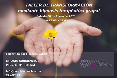 Taller de Transformación mediante hipnosis terapéutica grupal 30 Enero 2021