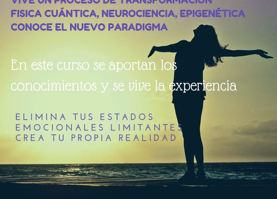 Curso «EXPANDE LOS LÍMITES DE TU MENTE (Física Cuántica, Neurociencia, Epigenética)- Nivel 1; Enero-Febrero 2022